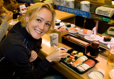 In a sushi bar royalty free stock photo