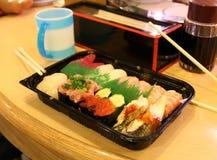 In a sushi bar. Ueno Tokyo Japan stock photo