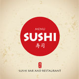 Sushi bar menu Stock Photo