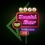 Sushi bar neon sign Royalty Free Stock Photo