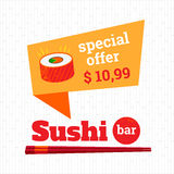 Sushi bar royalty free illustration