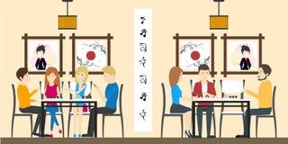Sushi-Bar-Restaurant vektor abbildung