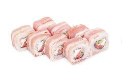 Sushi Batacon maki. Isolated on a white background Stock Images
