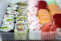 Sushi beater on the table background Stock Photography
