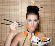 Sushi beauty Stock Photography