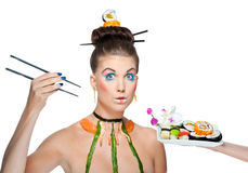 Sushi beauty Royalty Free Stock Images