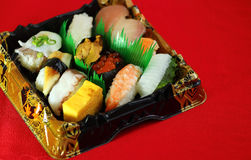 Sushi Bento Royaltyfri Bild