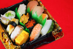 Sushi Bento Arkivfoton