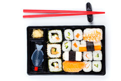 Sushi bento box Royalty Free Stock Images