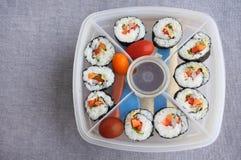 Sushi bento Kasten Lizenzfreie Stockbilder