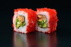Sushi on black background Royalty Free Stock Photo