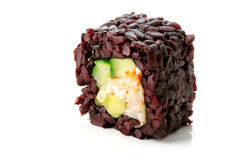 Sushi with black rice Stock Images