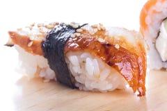 Sushi with blackhead Stock Photo