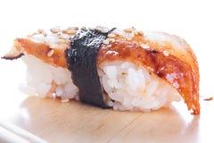 Sushi with blackhead Stock Image