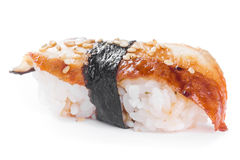 Sushi with blackhead Royalty Free Stock Images