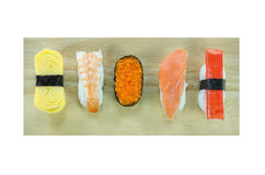 Sushi on board Stock Image