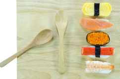 Sushi on board Royalty Free Stock Images