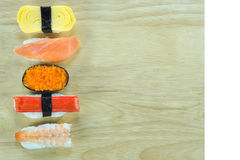 Sushi on board Royalty Free Stock Image