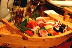 Sushi Boat royalty free stock image