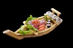 Sushi boat. Royalty Free Stock Photo