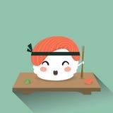 Sushi bonito dos desenhos animados Fotos de Stock