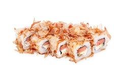 Sushi Bonito maki. Isolated on a white background royalty free stock photo