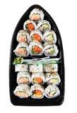 Sushi-Boot Stockfoto