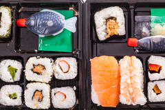 Sushi boxes royalty free stock image