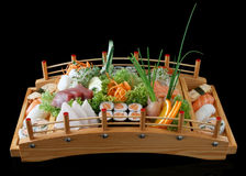 Sushi on bridge Royalty Free Stock Photography