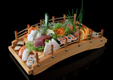 Sushi on bridge Royalty Free Stock Photo
