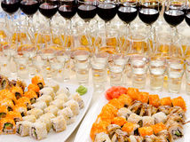 Sushi buffet Stock Image