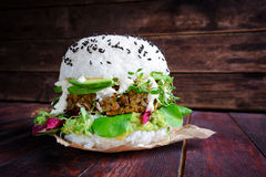 Sushi burger Royalty Free Stock Images