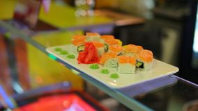 Sushi cafe abstract background stock footage