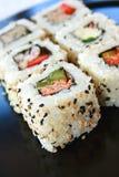 Sushi Califórnia Rolls foto de stock