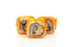 Sushi California Roll. In white background Stock Photo