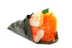 Sushi California Roll. In white background Royalty Free Stock Photos
