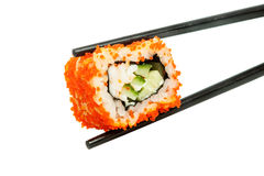Sushi (California Roll). On a white background Stock Image