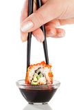 Sushi (California Roll). On a white background Royalty Free Stock Image