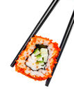 Sushi (California Roll). On a white background Stock Images