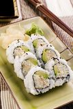 Sushi - California Roll. This image shows a California roll (sushi) on a plate Stock Photo