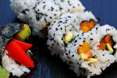 Sushi California Roll. Healthy very popular Japanese food sushi california roll Stock Photography