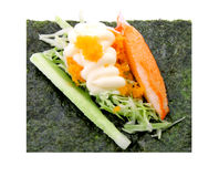 Sushi California Roll. Isolated in white Royalty Free Stock Images