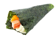 Sushi California Roll. Isolated in white Royalty Free Stock Photography