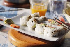 Sushi - California rolls Stock Image