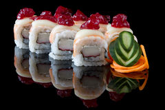 Sushi california rolls Stock Images