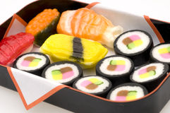 Sushi Candy. Candy that looks like sushi Stock Photo