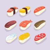 Sushi cartoon image. Set of Sushi cartoon image Stock Illustration