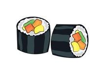 Sushi cartoon Royalty Free Stock Photo