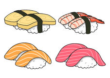 Sushi cartoon_version1 Fotografia de Stock