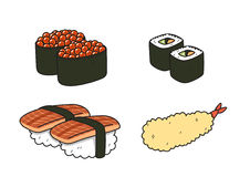 Sushi cartoon_version2 Stock Images